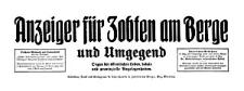 Anzeiger für Zobten am Berge und Umgegend 1913-11-22 Jg. 29 Nr 93