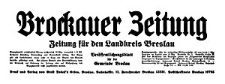 Brockauer Zeitung. Zeitung für den Landkreis Breslau 1937-12-02 Jg. 37 Nr 144
