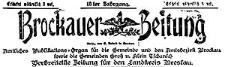 Brockauer Zeitung 1913-01-01 Jg. 13 Nr 1