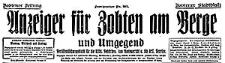 Anzeiger für Zobten am Berge und Umgegend 1939-05-03 Jg. 55 Nr 52