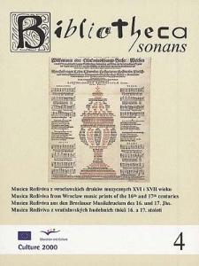 Musica Rediviva z wrocławskich druków muzycznych XVI i XVII wieku