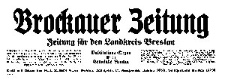 Brockauer Zeitung. Zeitung für den Landkreis Breslau 1933-07-30 Jg. 33 Nr 90