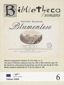 Muzyka kompozytorów śląskich XV-XX wieku (cz. 2)