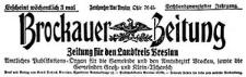 Brockauer Zeitung. Zeitung für den Landkreis Breslau 1926-01-01 Jg. 26 Nr 1