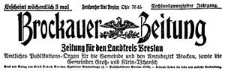 Brockauer Zeitung. Zeitung für den Landkreis Breslau 1926-01-10 Jg. 26 Nr 5
