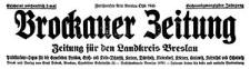 Brockauer Zeitung. Zeitung für den Landkreis Breslau 1926-11-07 Jg. 26 Nr 133