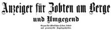 Anzeiger für Zobten am Berge und Umgegend 1909-01-03 Jg. 25 Nr 1