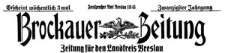 Brockauer Zeitung 1923-01-01 Jg. 23 Nr 1