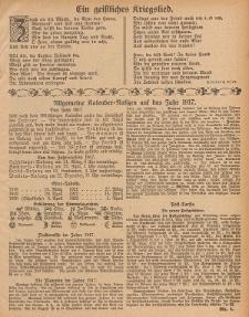 Hauskalender für den Kreis Grünberg in Schl. auf das Jahr 1917, 7. Ausgabe