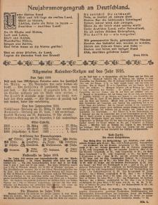 Hauskalender für den Kreis Grünberg in Schl. auf das Jahr 1918, 8. Ausgabe