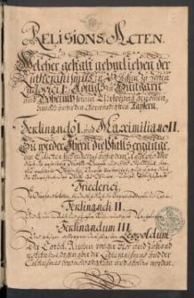 Schlesische Religionsakten. Cz. IV.