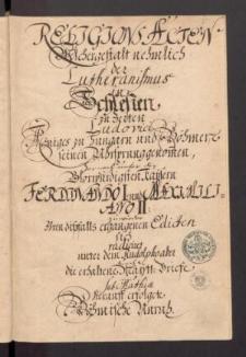Schlesische Religions Akten. Cz. VI.