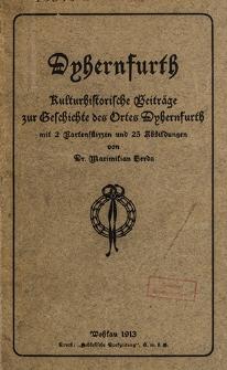 Dyhernfurth : Kulturhistorische Beiträge des Ortes Dyhernfurth