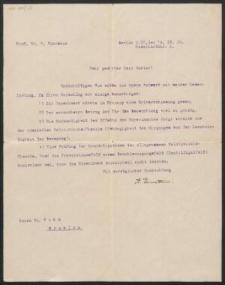 Dwa listy maszynopisane z własnoręcznym podpisem Alberta Einsteina adresowane do dr. Rahma