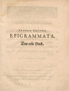 Epigrammata. Das erste Buch.