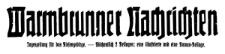 Warmbrunner Nachrichten. Tageszeitung für das Riesengebirge. 1929-10-03 Jg. 48 Nr 232