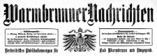 Warmbrunner Nachrichten. Verbreitetstes Publikationsorgan für Bad Warmbrunn und Umgegend. 1910-12-01 Jg. 28 Nr 184