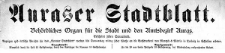 Auraser Stadtblatt. Behördliches Organ für die Stadt und den Amtsbezirk Auras. 1924-02-23 [Jg. 19] Nr 8