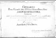 Nomina patrum et fratrum Ordinis Minorum S. P. Francisci Reformatorum almae provinciae Silesiae sanctae Hedwigis viduae conscripta Anno 1757
