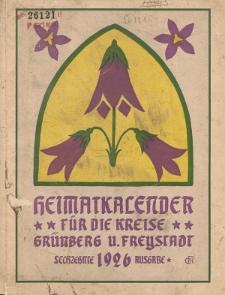Heimatkalender für die Kreise Grünberg und Freystadt auf das Jahr 1926