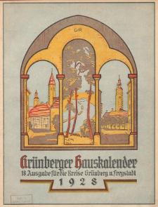 Grünberger Hauskalender: Heimatkalender für die Kreise Grünberg und Freystadt auf das Jahr 1928