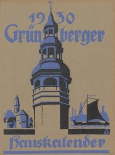Grünberger Hauskalender: Heimatkalender für die Kreise Grünberg und Freystadt auf das Jahr 1930, 20. Ausgabe