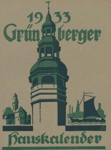 Grünberger Hauskalender: Heimatkalender auf das Jahr 1933, 23. Ausgabe