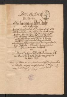 Ober-Lausitzisches Lehn-Recht