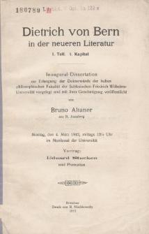 Dietrich von Bern in der neueren Literatur. T. 1, Kap. 1.