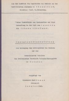 """""""Ueber Fremdkörper der Speiseröhre und ihre Behandlung in der Zeit von Leonides bis Johann Arcolano""""."""
