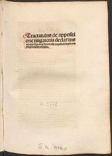 De appositione nugatoria ex dictis Aegidii Romani