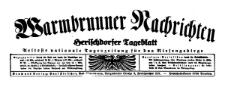 Warmbrunner Nachrichten. Herischdorfer Tageblatt 1938-05-27 Jg. 54 Nr 122