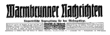 Warmbrunner Nachrichten. Unparteiische Tageszeitung für das Riesengebirge 1925-11-07 Jg. 44 Nr 262