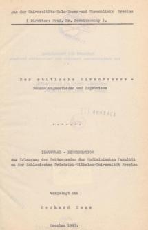 Der otitische Hirnabszess : Behandlungsmethoden und Ergebnisse.