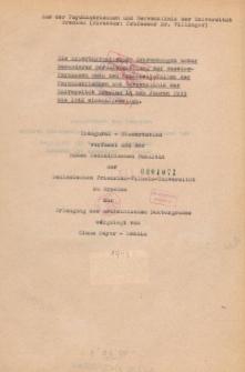 Die hyperthyreotischen Erkrankungen unter besonderer Berücksichtigung der Basedow-Psychosen nach den Krankheitsfällen der Psychiatrischen und Nervenklinik der Universität Breslau in den Jahren 1933 bis 1942 einschliesslich.