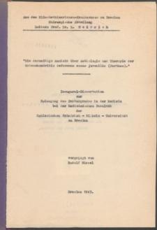 Die derzeitige Ansicht über Aetiologie und Therapie der Osteochondritis deformans coxae juvenilis (Perthes).