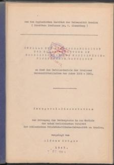 Unfälle und Berufskrankheiten und deren Verhütung in medizinischen und medizinisch-technischen Betrieben : an Hand des Unfallmaterials der Breslauer Universitätskliniken der Jahre 1929-1941.