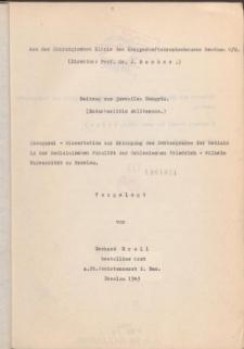 Beitrag zur juvenilen Gangrän : Endarteriitis obliterans.