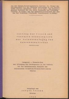 Beitrag zur Klinik und Therapie insbesondere zur Balneotherapie des Ruhrrheumatismus.
