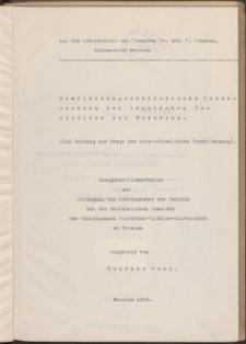 Bevölkerungsstatistische Untersuchung bei ländlichen Umsiedlern der Bukowina : (ein Beitrag zur Frage der unterschiedlichen Fortpflanzung).