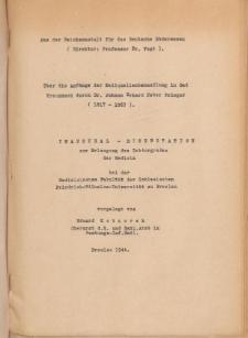 Über die Anfänge der Heilquellenbehandlung in Bad Kreuznach durch Dr. Johann Erhard Peter Prieger (1817-1863).