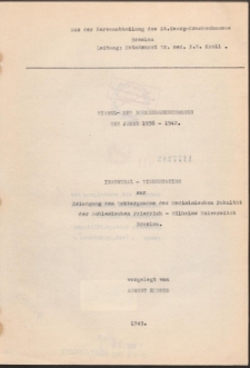 Wirbel- und Rückenmarkstumoren der Jahre 1936-1942.
