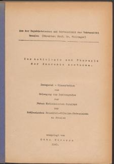 Zur Aetiologie und Therapie der Enuresis nocturna.
