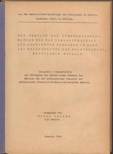 Der Verlauf der Lymphogranulomatose und das Lebensschicksal der erkrankten Personen an Hand des Krankengutes der Universitätshautklinik Breslau.