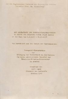 Die Ablehnungen der Ehestandsdarlehnbewerber im Gebiet der früheren Freien Stadt Danzig in der Zeit vom 1.8.1933 - 31.12.1937 : ein Ausschnitt aus dem Gebiet der Rassenhygiene.