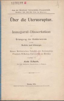 Über die Uterusruptur.