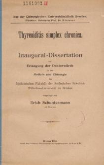Thyreoiditis simplex chronica.