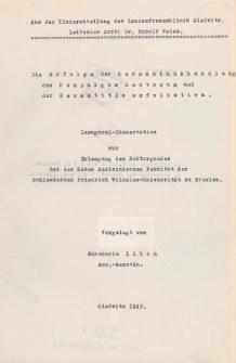 Die Erfolge der Germaninbehandlung des Pemphigus neonatorum und der Dermatitis exfoliativa.