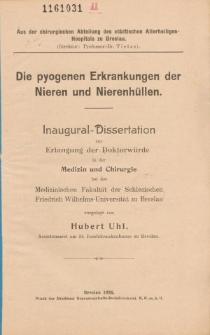 Die pyogenen Erkrankungen der Nieren und Nierenhüllen.