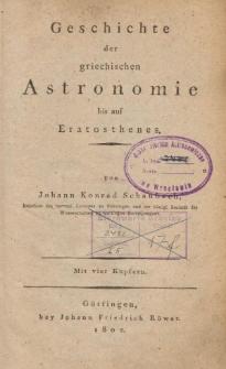 Geschichte der griechischen Astronomie bis auf Eratosthenes